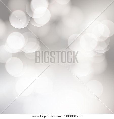 Vector abstract bokeh background. Festive defocused lights.