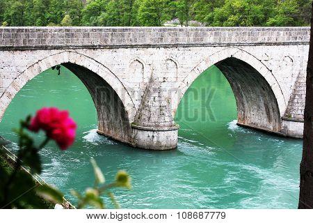 Famous Bridge Od The River Drina In Visegrad