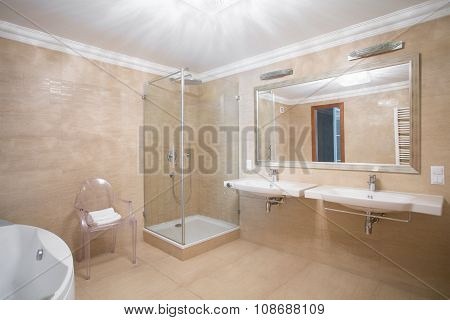 Modern Bathroom For Couple