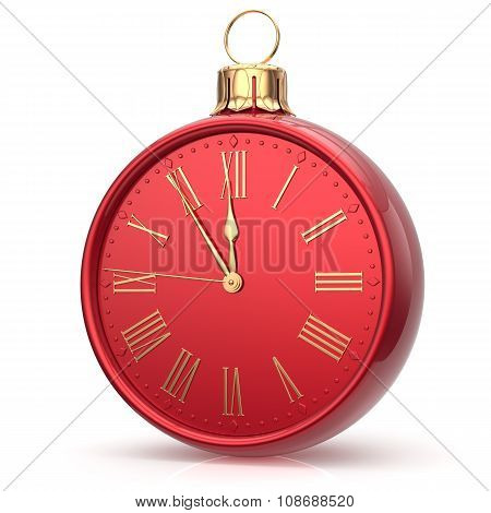 New Year's Eve Time Alarm Clock Christmas Ball Midnight Hour
