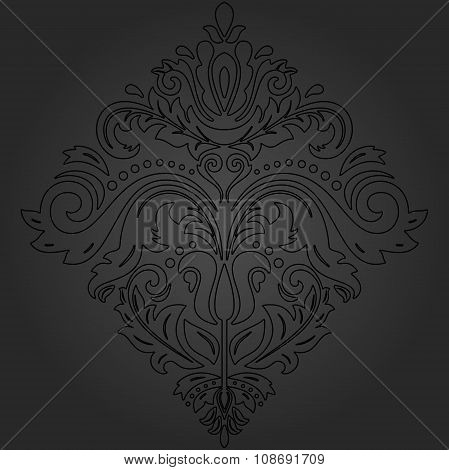 Damask Vector Oriental Pattern