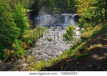 Autumnal View On Keila-joa Waterfall, Estonia