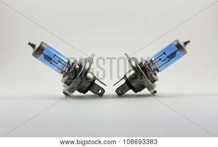 Automotive Light Bulb On White Background