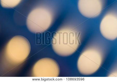 Blue Background With Oval Soft Bokeh Lights