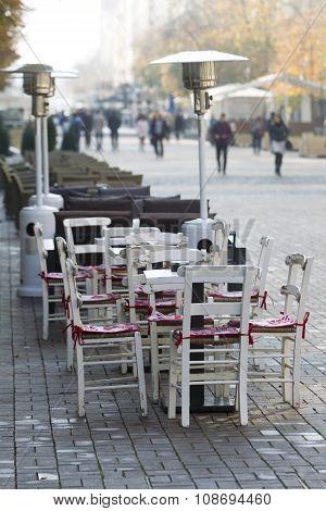 Sofia Bulgaria Street Cafe