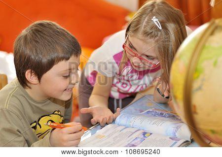 Kids Doing Some Homework