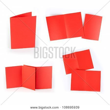 Blank Folding Page Booklet On White Background