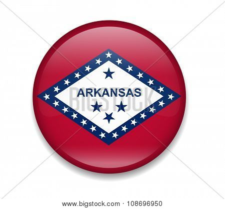 Arkansas Button Flag