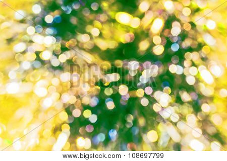 Blurred Christmas Background With Colorful Bokeh