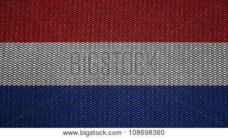 Flag of the Netherlands, Dutch Flag painted on stitch texture