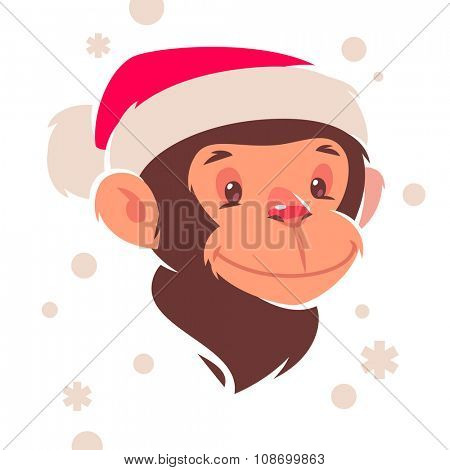 Monkey chinese 2016 new year symbol