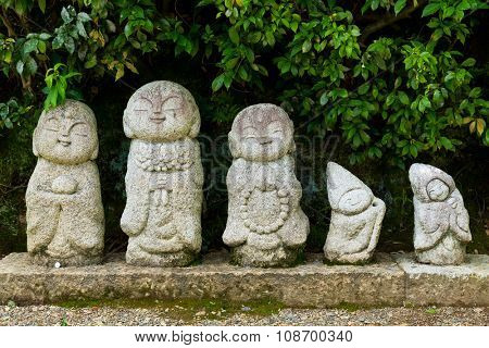 Nagomi jizo, statue in Japanese temple