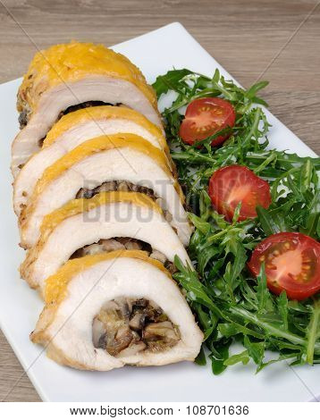 Chicken Fillet Stuffed With Mushrooms