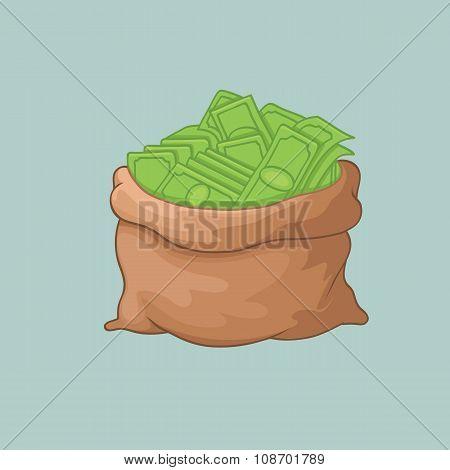 Money Bag. Sack of Money