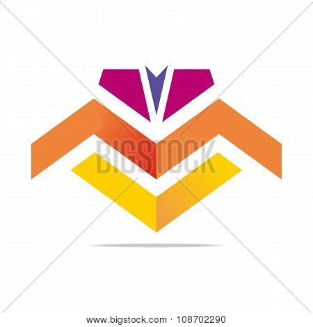 Element Logo Arrow Abstract Vector