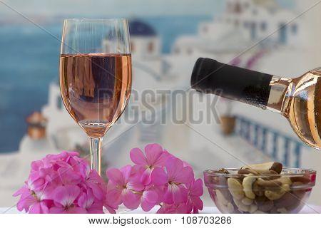 Summer Still Life With Wine