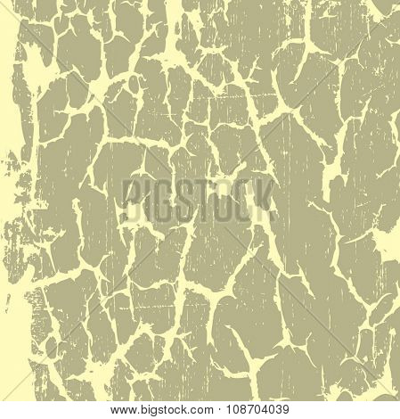 Dry cracked earth texture, vector background