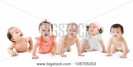 Lovely asian babies