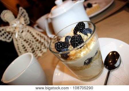 Dessert In A Glass With Mascarpone And Berries