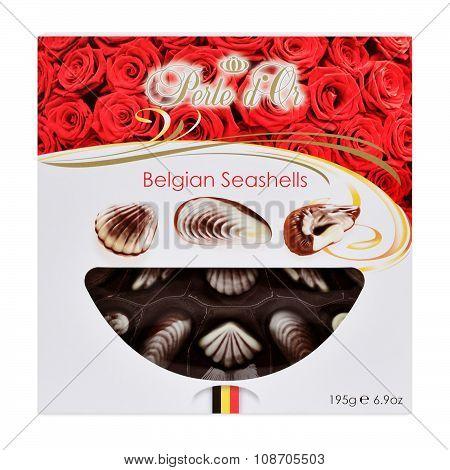 Perle D'or Belgian Seashell Chocolate Truffles.