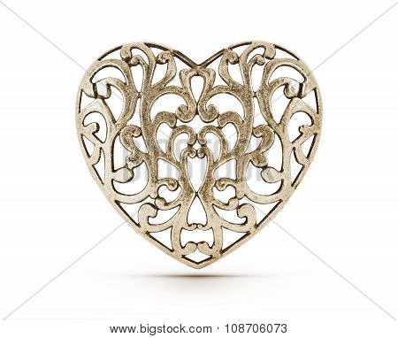 Bronze decorative heart