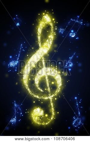 yellow treble clef
