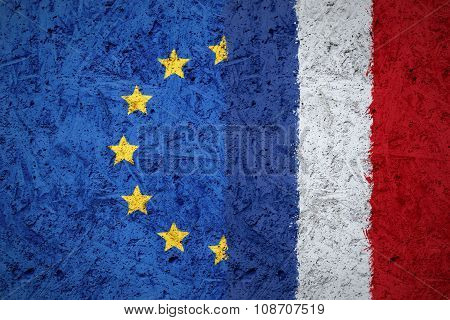 EU and France flags