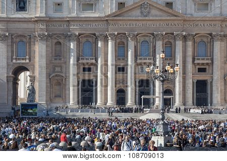 People near Basilica of St. Peter