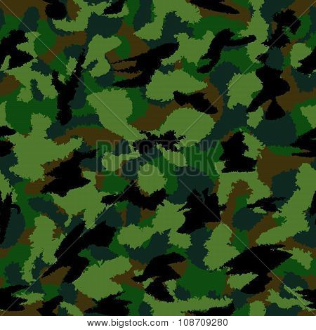 Forest Dark Mixed War Camouflage Seamless Pattern. Can Be Used For Wallpaper, Pattern Fills, Web Pag