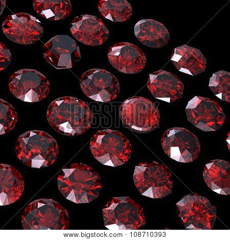 Luxury Jewelry Background with gemstones. Diamond.Garnet