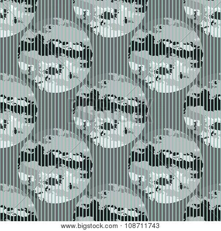 Seamless Pattern Abstract Circles