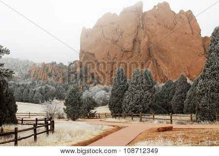 Winter At The Garden Of The Gods