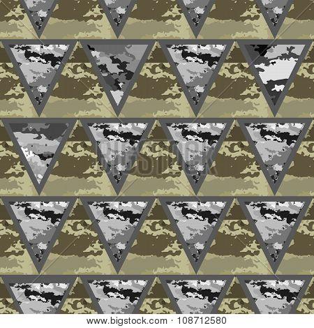Geometric Abstract Seamless Camo