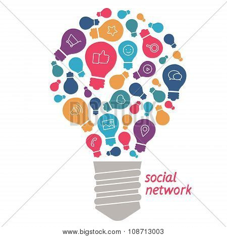 Illustration  Ideas In The Field Of Social Network