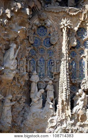 Architectural Details Of Sagrada Familia Barcelona Spain