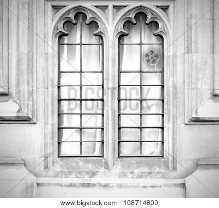 Old In London  Historical    Parliament Glass  Window    Structure And  Reflex