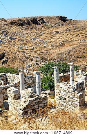Archeology  In Delos Greece  Acropolis   Site