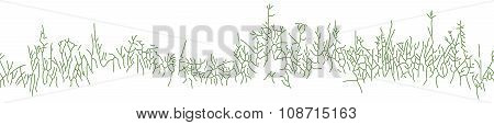 Background with clumps of grass or dry weeds