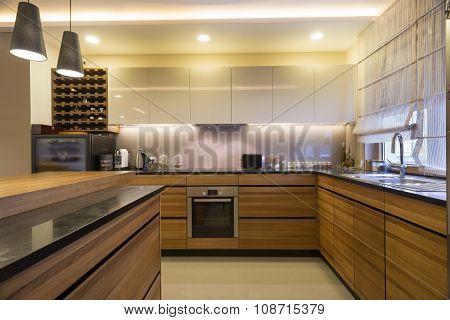 Modern Bright Kitchen Interior
