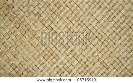 Background - beige thai style rattan wicker texture