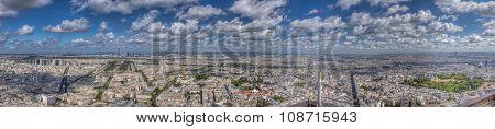Paris From Montparnasse Tower