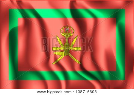 Flag Of Oman. Rectangular Shape Icon