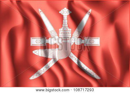 Emblem Of Oman. Rectangular Shape Icon