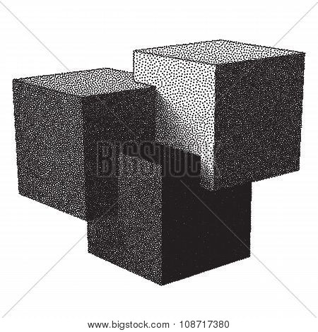 Cubes and dotwork gradient