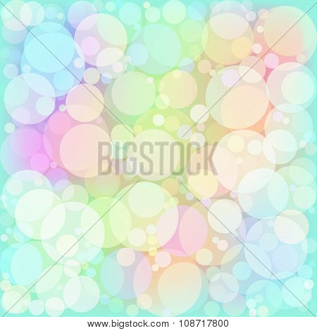 Vector illustration of soft colored abstract