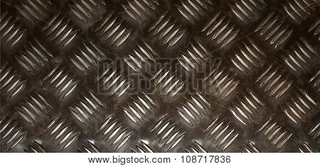 Textured metal background with non slip repetitive pattern