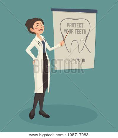 Doctor Speaker Illustration