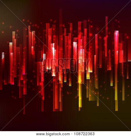 Red lighting horisontal oriented linear banner