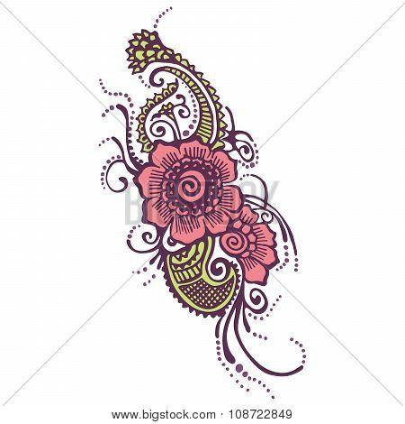Henna Indian Paisley