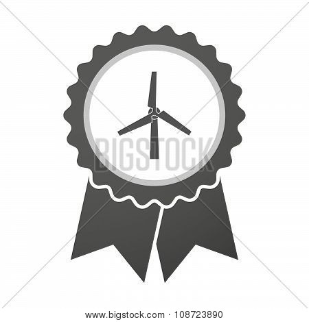 Vector Badge Icon With A Wind Generator